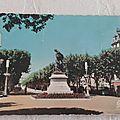 Béziers - Allées et statue Paul Riquet datée 1962