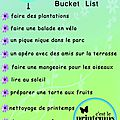 {to do list} spring bucket list