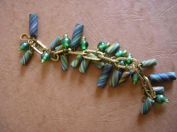 bracelet fimo vert