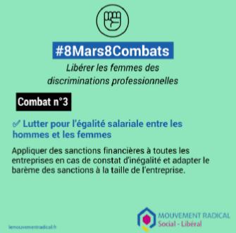 8 mars > 8 combats - Combat n° 3 : lutter pour l'égalité salariale entre les hommes et les femmes