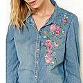 chemise en jean femme camaieu 20 euros