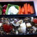 Bento 147: salade de lentilles, crudités