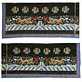 An uncut silk yardage for an official's formal court robe, <b>chaofu</b> 朝服, 19th century