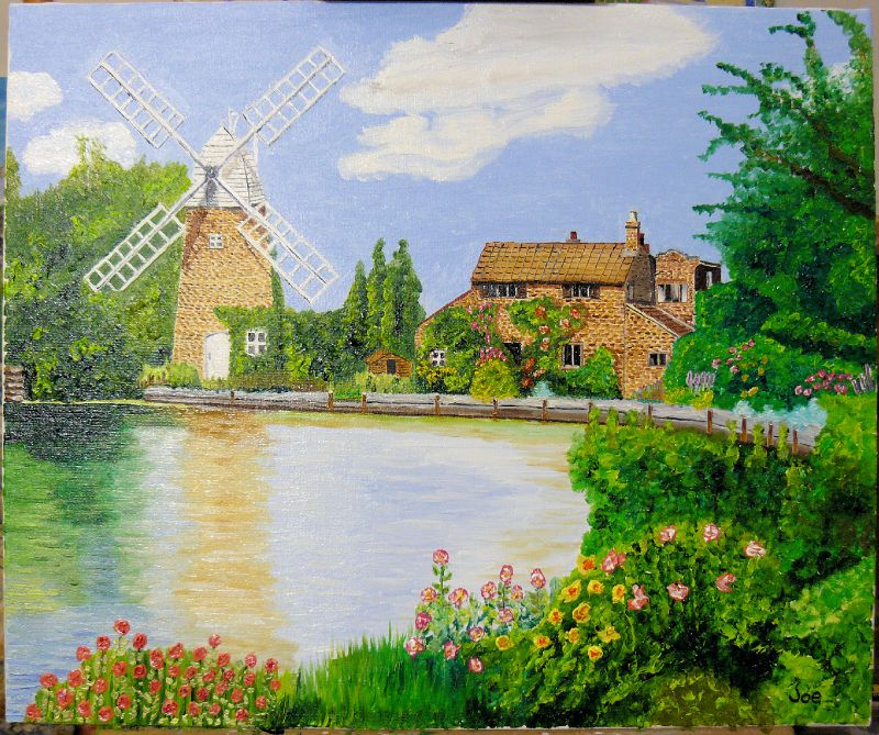 Windmill with pond