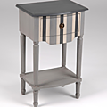 Présentation des meubles rainurés de gris de la gamme Haussman du mobilier <b>Amadeus</b>