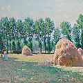 claude monet's haystacks at giverny to highlight christie's evening sale of impressionist and modern art