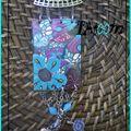 collier fleurs papillon