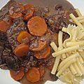 Boeuf-carottes au vin rouge facile