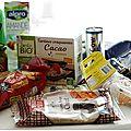 Je vous présente la degustabox du mois d'août et 2 recettes élaborées avec les beaux produits de cet envoi ...........
