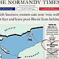 PUB post BREXIT interdite dans le métro de Londres: le manque de fair play ne réussit pas aux <b>Normands</b>.