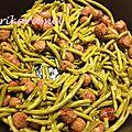 Haricots verts et riz aux merguez