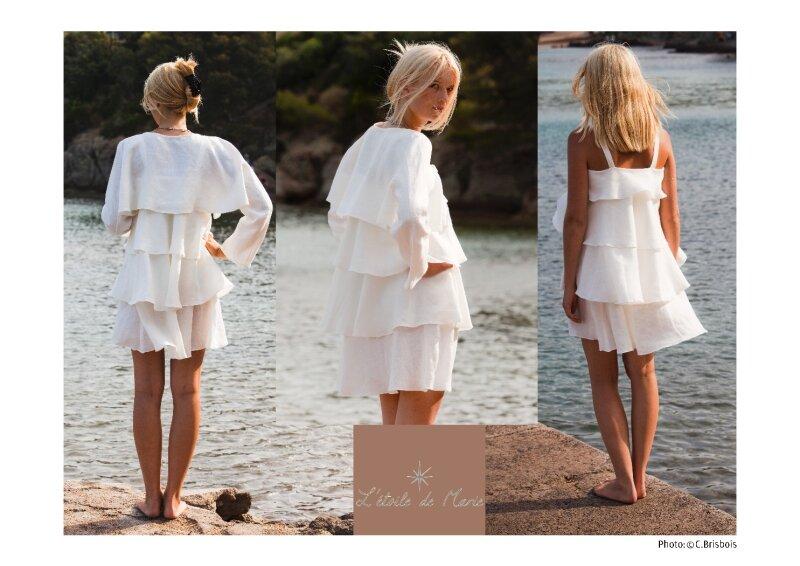 Robe Toupie en lin biologique. Création l'Etoile de Marie © C. Brisbois