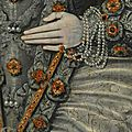 Portrait of an elizabethan woman (detail), unknown artist, 1600