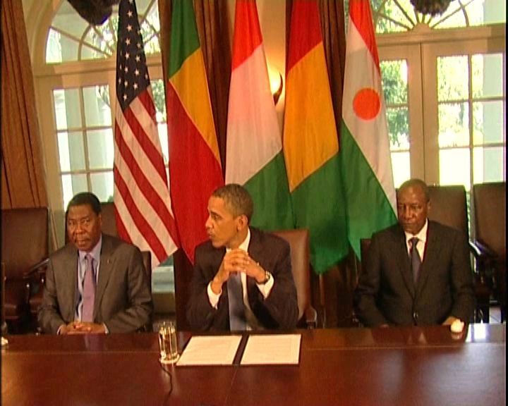 Présidents - OBAMA - CONDE - BONI