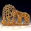 Belt Plaque, <b>5th</b> - <b>4th</b> <b>century</b> <b>BC</b>. Western Siberia, Russia. Gold.