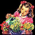 Le printemps, des fleurs , du tissu....