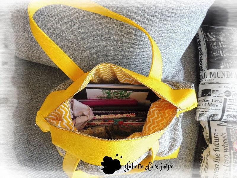 Java small jaune et gris origami13