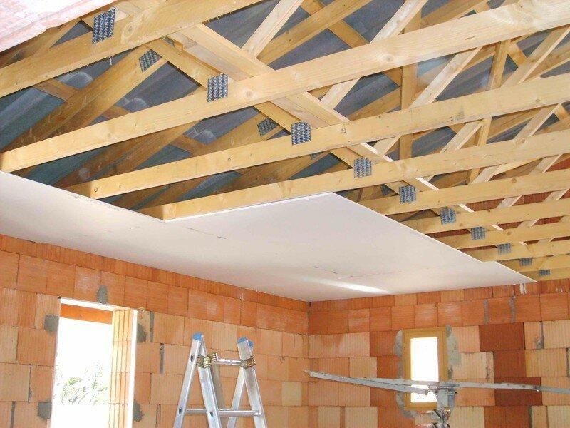 charpente fermette plafond. Black Bedroom Furniture Sets. Home Design Ideas