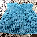 Petite robe bébé crochet et tricot