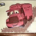 Gâteau camion cars