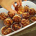 muffins aux framboise, chocolat blanc et amandes