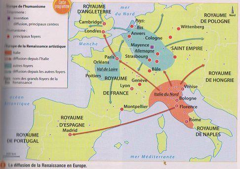 carte europe renaissance