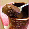 Crème onctueuse, à la patate douce, marron et chocolat noir