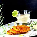 Ananas rôti , crème citron vert-menthe