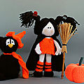 <b>Black</b> <b>Cat</b> In The Orange Hat – Young Witch And Pumpkin – Tetyana Korobkova