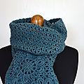 Echarpe fleurs bleues-crochet-La chouette bricole (3)