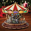 Les soldes sont chez Lutèce Créations: -50% sur les carrousels miniatures et musicaux de <b>Noël</b> Mr Christmas