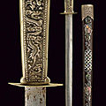 A silver mounted and mother of pearl decorated dagger, vietnam, circa 1900
