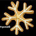 Biscuits flocons de neige Noël détail