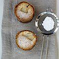 Petits gâteaux à la vanille et poires au sirop