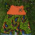 Robe en tissu Wax et popeline de coton, taille 6-9 mois