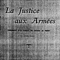 La justice militaire
