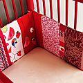 Tour de lit FrutaPuls' - vue angle droite