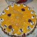 Gâteau aux amandes et aux pêches spécial fêtes des grands mères!!