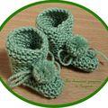Cadeaux de naissance # 2: les chaussons en laine ;)