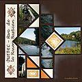 Gabarit Vienne Pékin 2009 Rivière Batiscan Page extérieure plis ouvert