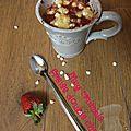 Mug crumble fraise double choc
