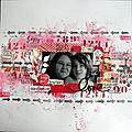 Love : page pour le challenge le comptoir du scrap