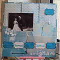 page mariage bleu blanc