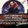 Concert 1300 choristes et l'artiste barcella pour les restos du coeur - dimanche 25 janvier 2015 à montbéliard (25)