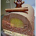 Bûche chocolat, mangue et cannelle
