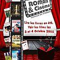 Festival roman et cinéma 2015
