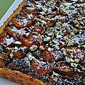 Tarte abricots pistaches selon christophe felder