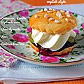 Scones sirop d'érable • kiwi framboise & chantilly ~ battle food #1