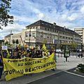 Plus d'un millier de militants anti-nucléaires et anti epr à saint-lô samedi 30 septembre 2017
