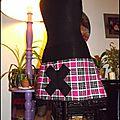 Jupe écossaise nocive black ( derrière )